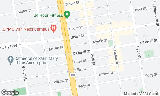 Map of AMC Van Ness 14 at 1000 Van Ness Ave San Francisco, CA
