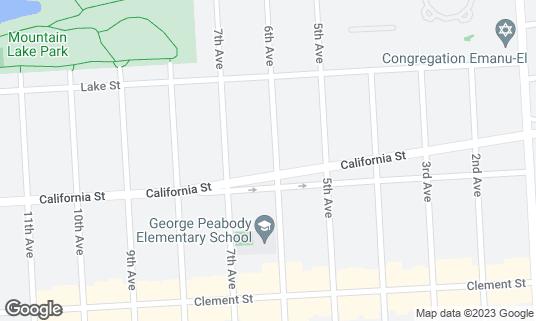 Map of Nourish Cafe at 189 6th Ave San Francisco, CA
