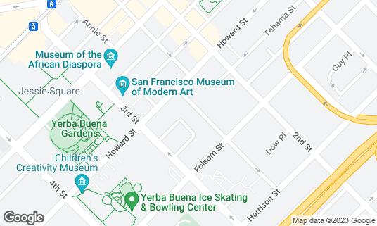 Map of Benu at 22 Hawthorne St San Francisco, CA