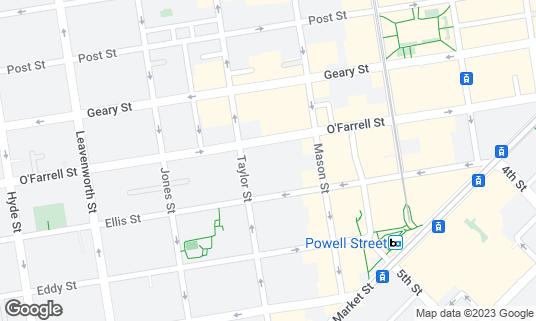 Map of Hilton San Francisco Union Square at 333 O'Farrell St San Francisco, CA