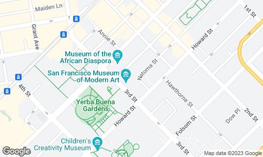 Map of San Francisco Museum of Modern Art at 151 3rd St San Francisco, CA