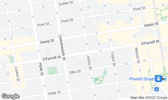 Map of Bourbon & Branch at 501 Jones St San Francisco, CA