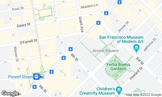 Map of Bluestem Brasserie at 1 Yerba Buena Ln San Francisco, CA