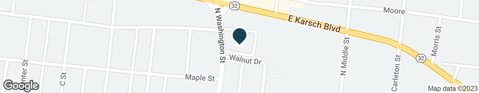 Google Map of120 E KARSCH BLVD