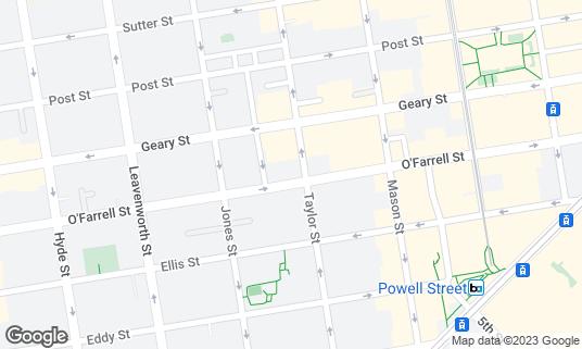 Map of Jasper's Corner Tap & Kitchen at 401 Taylor St San Francisco, CA