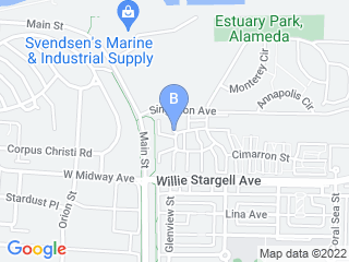 Map of Its A Ruff Ruff Life Dog Boarding options in Alameda | Boarding