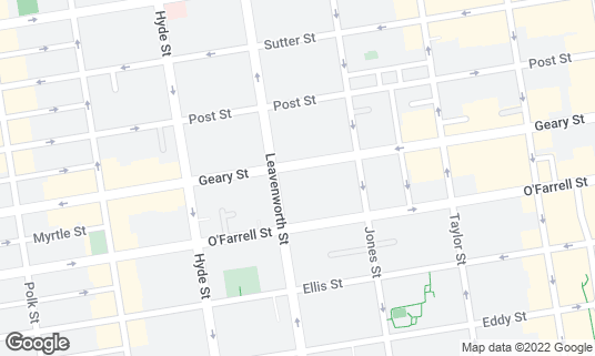 Map of Redford at 673 Geary St San Francisco, CA