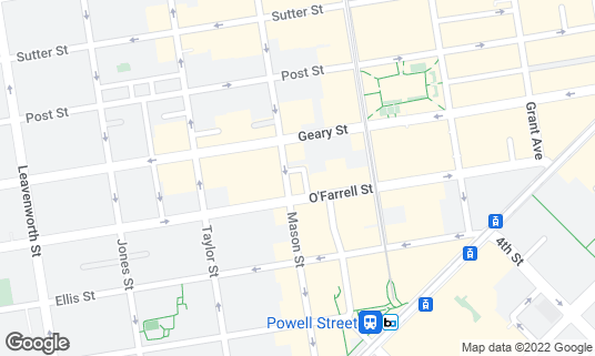 Map of Cafe Mason at 320 Mason St San Francisco, CA
