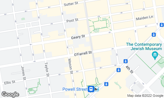 Map of Bartlett Hall at 242 O'Farrell St San Francisco, CA