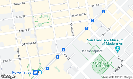 Map of Cafe Madeleine at 43 Ofarrell St San Francisco, CA