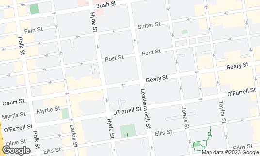 Map of 724Hookah at 724 Geary St San Francisco, CA