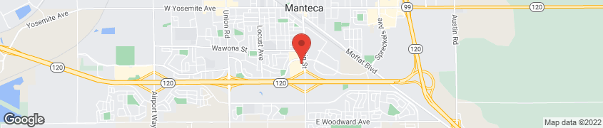 Map of 1135 S. Main St. in Manteca
