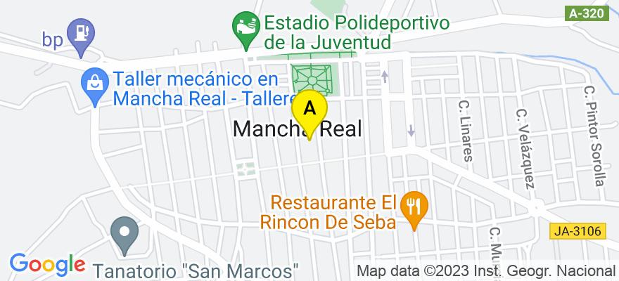 situacion en el mapa de . Direccion: Avda. de Torres nº 32-2ºA, 23100 Mancha Real. Jaén