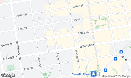 Map of Curran Theatre at 445 Geary St San Francisco, CA