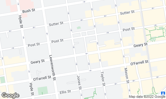 Map of Hotel Adagio at 550 Geary St San Francisco, CA