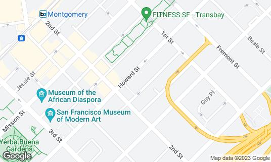Map of Southside Spirit House at 575 Howard St San Francisco, CA