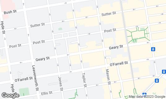 Map of Bota Tapas & Paella Bar at 490 Geary St San Francisco, CA
