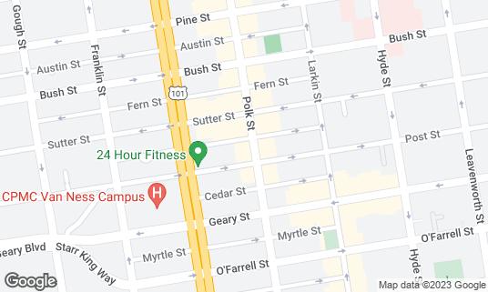 Map of Blur at 1121 Polk St San Francisco, CA