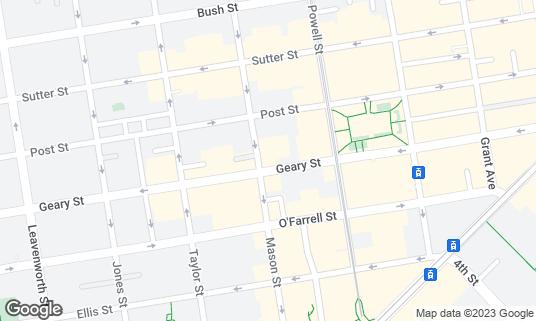 Map of Benjamin Cooper at 398 Geary St San Francisco, CA