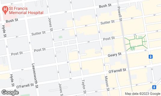Map of CoCoBang at 550 Taylor St San Francisco, CA