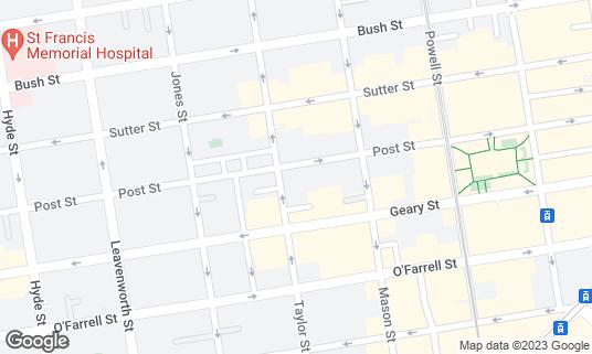 Map of Bar 587 at 587 Post St San Francisco, CA