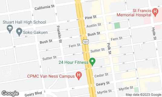 Map of BevMo! at 1301 Van Ness Ave San Francisco, CA