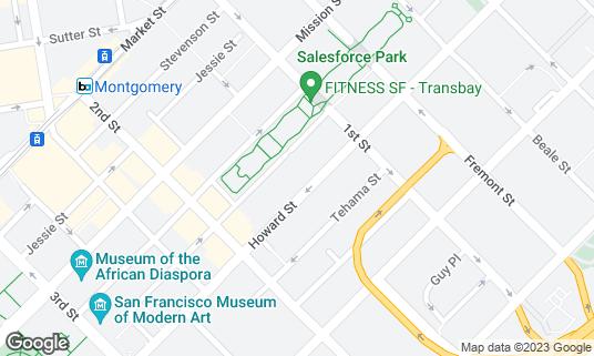 Map of Temple Nightclub at 540 Howard St San Francisco, CA