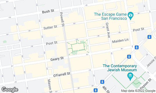 Map of Union Square at 333 Post St San Francisco, CA