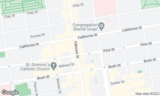 Map of Harry's Bar at 2020 Fillmore St San Francisco, CA