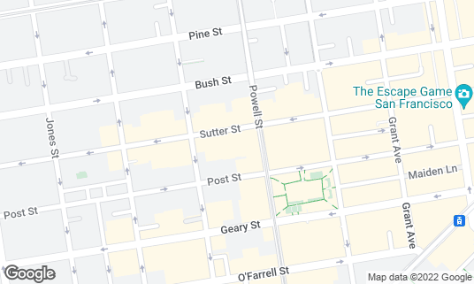 Map of Shelton Theater at 533 Sutter St San Francisco, CA