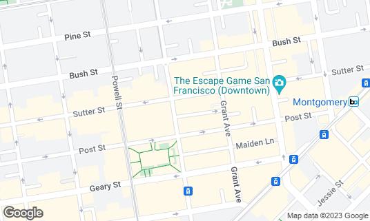 Map of Campton Place Restaurant at 340 Stockton St San Francisco, CA