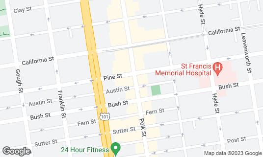 Map of Playland Bar at 1351 Polk St San Francisco, CA
