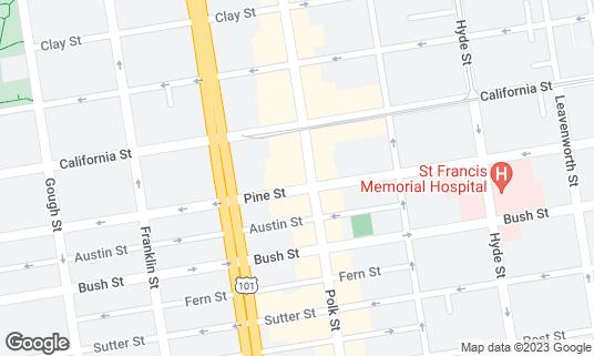 Map of Shalimar at 1409 Polk St San Francisco, CA