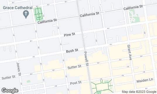 Map of Beanstalk Cafe at 724 Bush St San Francisco, CA
