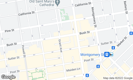 Map of Bar Fluxus at 18 Harlan Pl San Francisco, CA