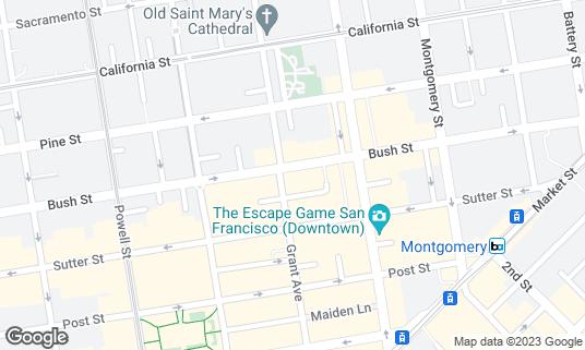 Map of Café de la Presse at 352 Grant Ave San Francisco, CA