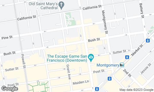Map of Irish Bank at 10 Mark Ln San Francisco, CA