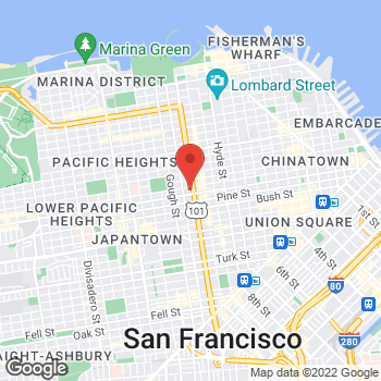Map of Guitar Center at 1645 Van Ness Ave, San Francisco, CA 94109