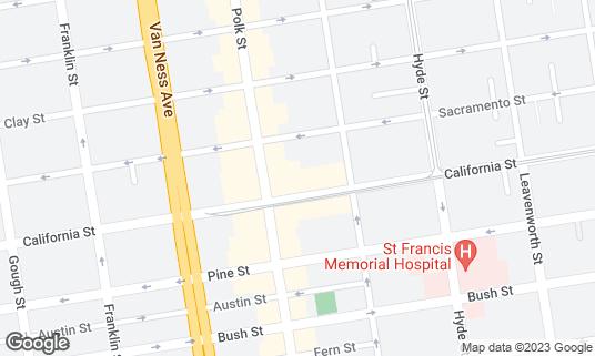 Map of Encore Karaoke Lounge at 1550 California St San Francisco, CA