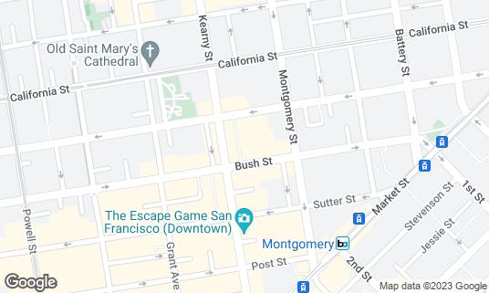 Map of Cafe Bastille at 22 Belden Pl San Francisco, CA