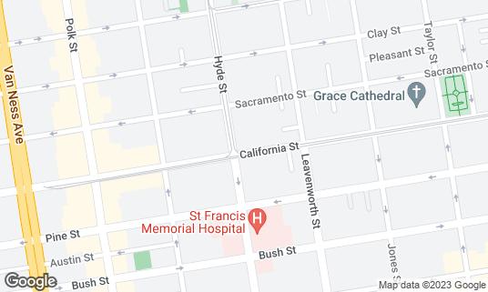 Map of The Wreck Room at 1390 California St San Francisco, CA