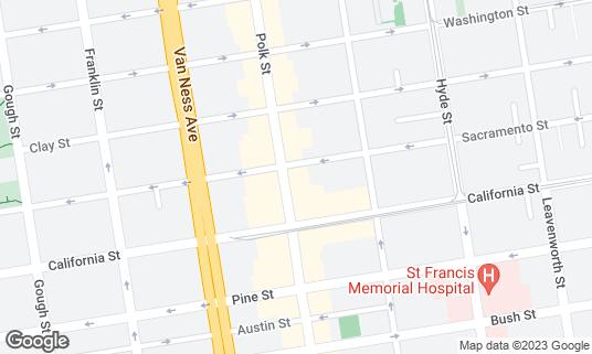 Map of Kozy Kar Bar at 1548 Polk St San Francisco, CA