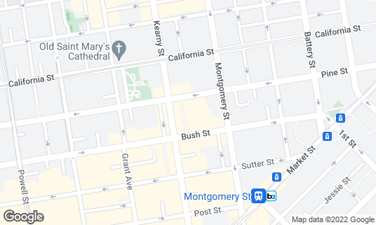 Map of B44 Catalan Bistro at 44 Belden Pl San Francisco, CA