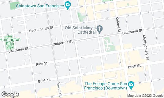 Map of The Ritz-Carlton, San Francisco at 600 Stockton St San Francisco, CA