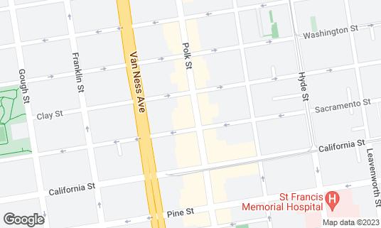 Map of Bob's Donuts at 1621 Polk St San Francisco, CA