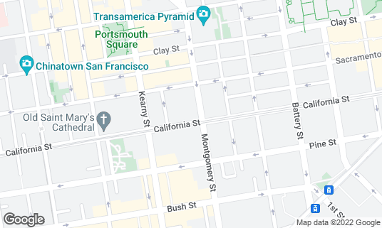 Map of Omni San Francisco Hotel at 500 California St San Francisco, CA