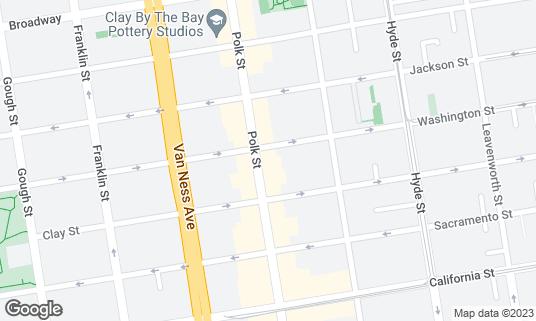 Map of Cabin Bar & Lounge at 1750 Polk St San Francisco, CA