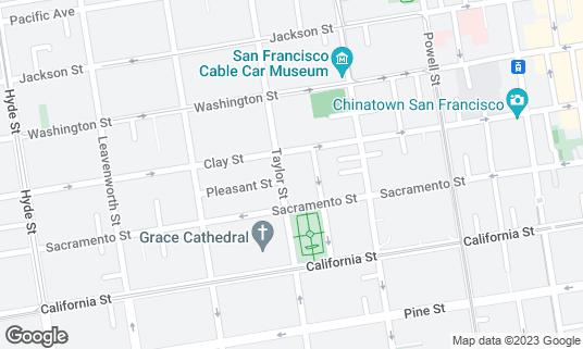Map of Nob Hill Cafe at 1152 Taylor St San Francisco, CA