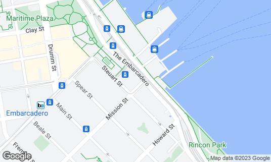 Map of Americano Restaurant & Bar at 8 Mission St San Francisco, CA