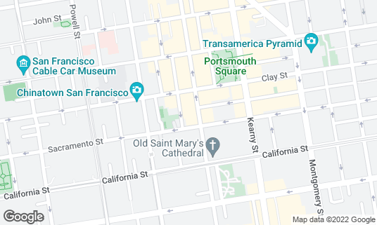 Map of Mister Jiu's at 28 Waverly Pl San Francisco, CA